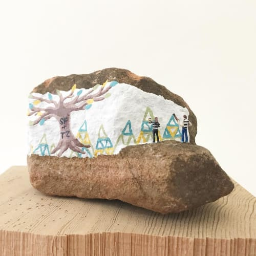 Sculptures by Becky Wareing Steele seen at Private Residence, Denver - Miniature Diorama