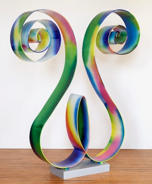 Sculptures by Perci Chester seen at Perci Chester Fine Artist, Minneapolis - Dogface