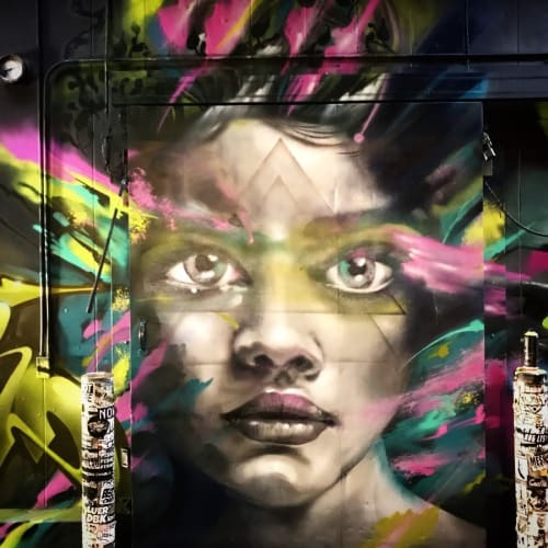 Street Murals by Yanoe seen at The Container Yard, Los Angeles - Portrait Mural