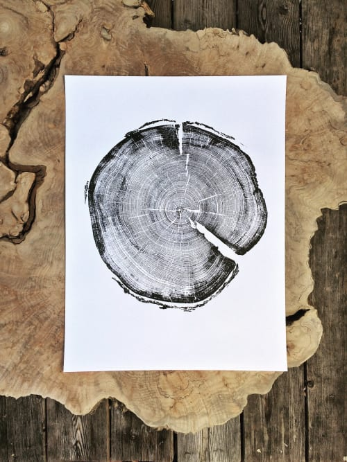 Art & Wall Decor by Erik Linton seen at Private Residence, Jacksonville - Tree Ring Prints