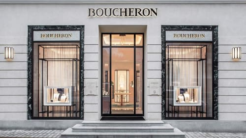 Sconces by Garnier & Linker seen at Boucheron, Moscow - ECHO sconce