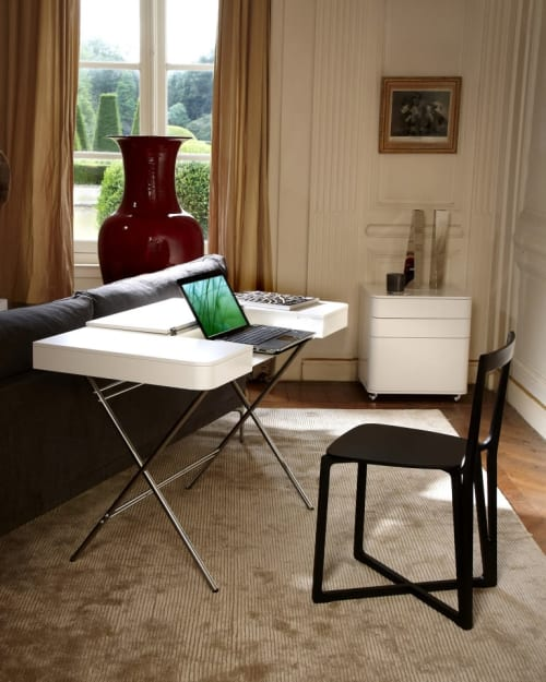 Tables by Adentro seen at Private Residence, Brittany - COSIMO Desk