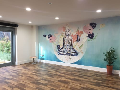 Murals by Hannah Adamaszek seen at The Coach House, Epping - Fringe Yoga Studio