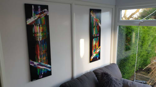 Paintings by Jgrice.art seen at Private Residence, Sheffield - Sliver lining