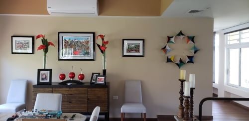 Wall Hangings by Natalie Ventimiglia seen at Private Residence - Peace Flower