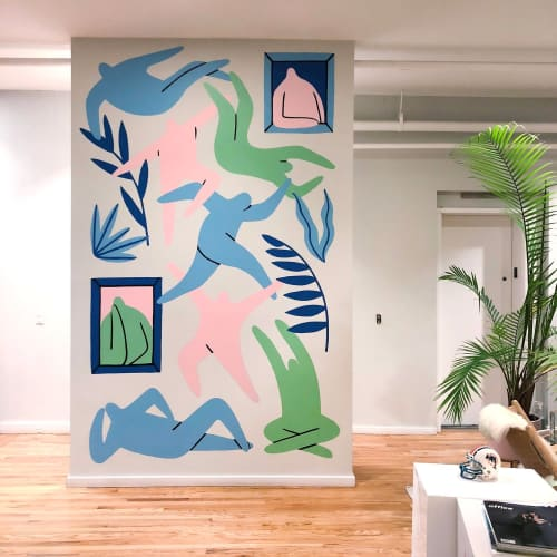 Murals by Jocelyn Tsaih seen at Movement Strategy, New York - Movement Strategy