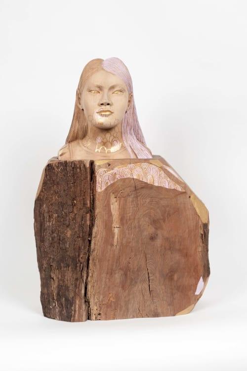 Sculptures by Wanda Gillespie seen at Private Residence, Matakana - Octavia