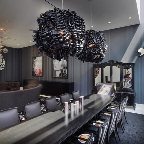 Chandeliers by Rachel Fitzpatrick seen at Private Residence, New York - Black Chandelier