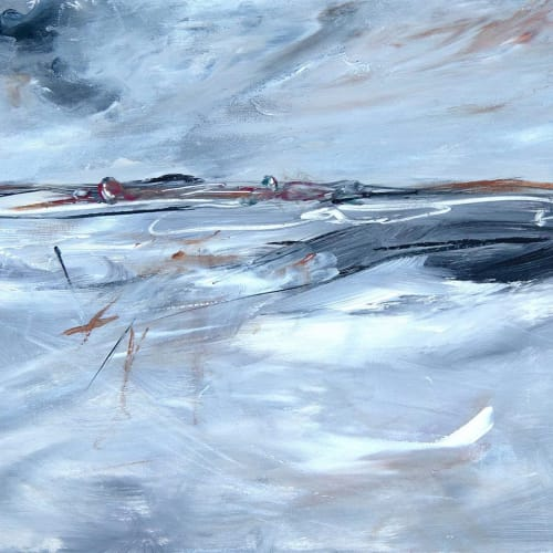 Paintings by Tania Chanter seen at Private Residence, Silvan - Ocean Storm