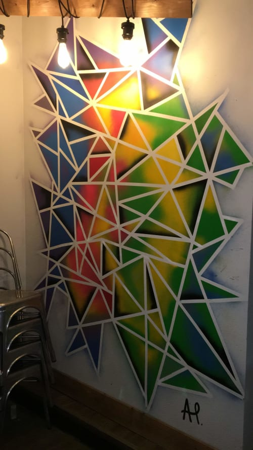 Murals by Ashly Parabaviz seen at MAIZ The Junction, Toronto - Abstracto