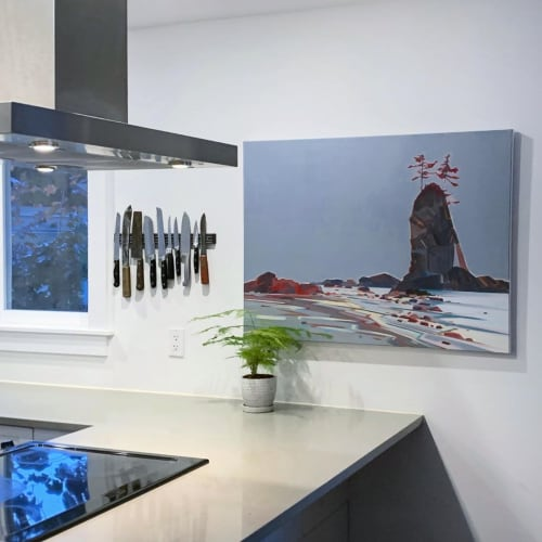 Paintings by Fiona Dalrymple seen at Private Residence, Vancouver - Brady's Beach