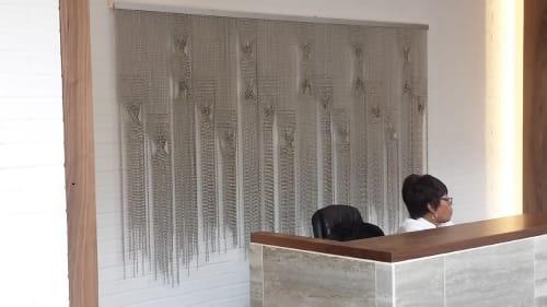 Sculptures by Beth Kamhi seen at Chicago, Chicago - industrial ballchain artwork