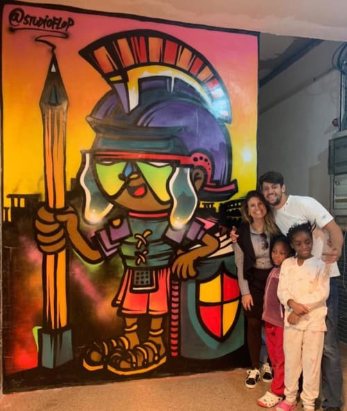 Murals by Fábio Panone seen at Spin Time, Roma - Education Gladiator