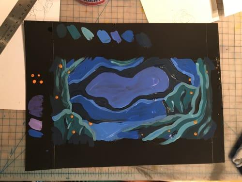 Paintings by Erin Bundock Freelance Art seen at ArtsRiot, Burlington - Midnight Dance