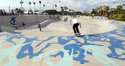 Street Murals by Kipp Kobayashi at Alondra Park, Lawndale - Fluid Dynamics
