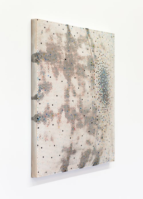 "Paintings by Artist Emil Lukas, represented by Hosfelt Gallery seen at SF Decorator Showcase 2019, San Francisco - Emil Lukas, ""heat shield #1496,"" 2016"