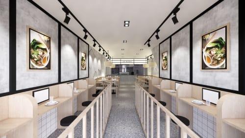 Interior Design by Studio Hiyaku seen at 363 Anzac Parade, Kingsford - Like Noodle Kingsford