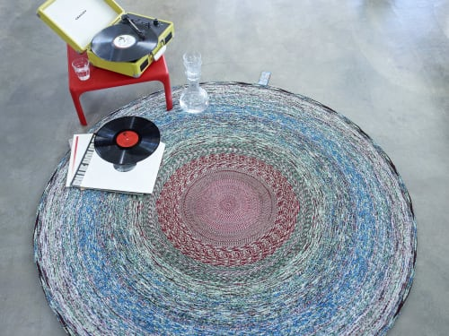 Rugs by LABEL / BREED seen at LABEL / BREED Studio, Amsterdam - Vlisco Recycled Carpet