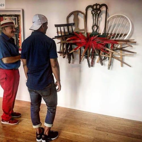 Sculptures by JOSE ANTONIO ARVELO seen at Yonkers, Yonkers - RESPALDO MILITAR (Military BackUp)