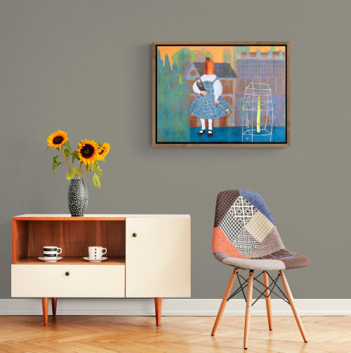 Paintings by Ayna Paisley seen at Creator's Studio, London - The Blue Town Lullaby