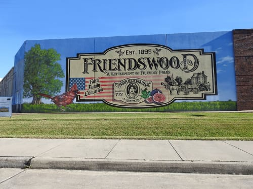 Street Murals by Anat Ronen seen at Sherwin-Williams Paint Store, Friendswood - The Firendswood mural