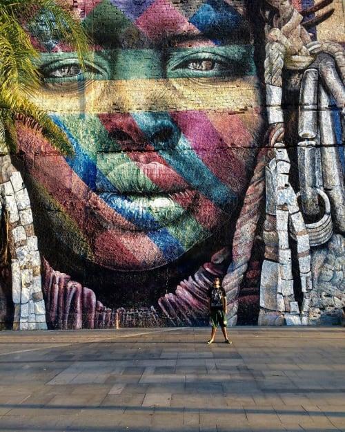 Street Murals by Hullk Manauara seen at Boulevard Olímpico, Centro - Amazona