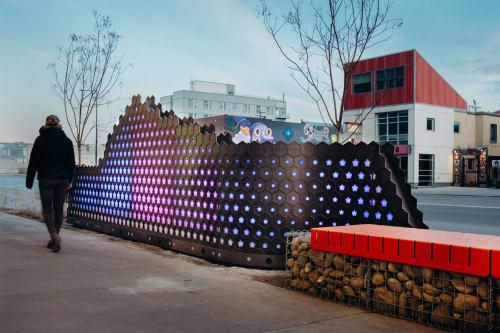 Public Sculptures by Raw Creative seen at Brighton Blvd & 35th St, Denver - Blue Print Walls