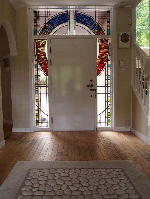 Art & Wall Decor by Stephen Weir Stained Glass seen at Private Residence, Glasgow - Stained glass door, Glasgow, Scotland