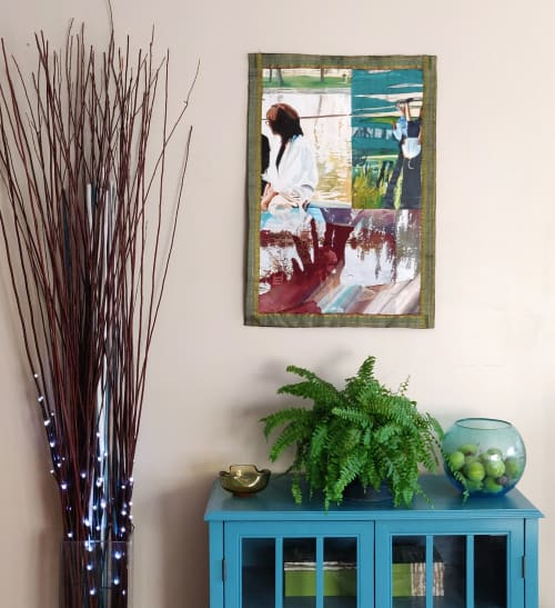 Paintings by Melissa Patel seen at Private Residence, Toronto - Exploration - textile painting