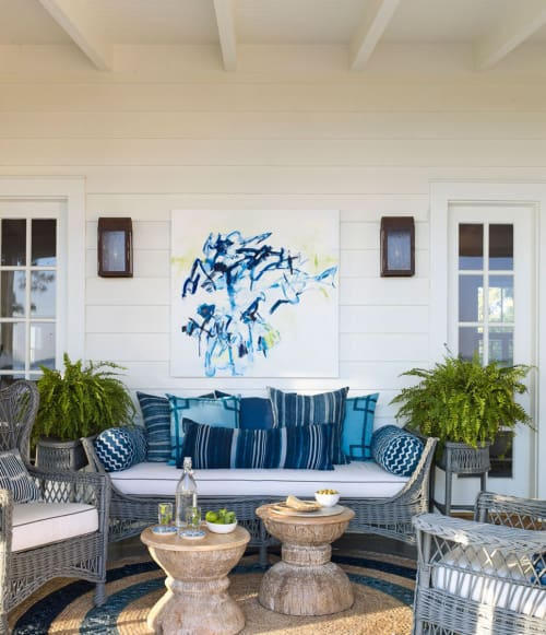 Paintings by Karen Blair seen at Fishing Bay Yacht Club, Deltaville - Blueberry Picking