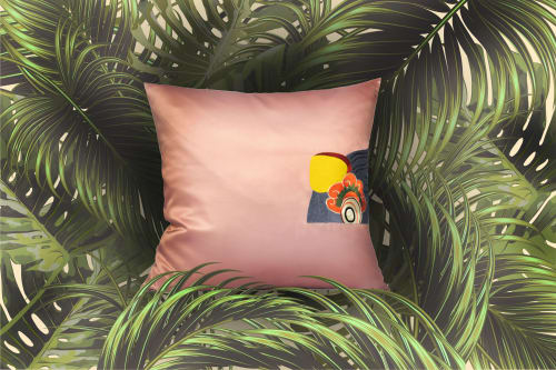 Pillows by Ori Home seen at Private Residence, London - Mischievous Tiger