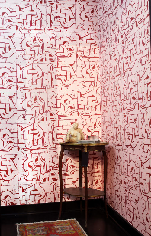 Wallpaper by Ellie Hazlett Studio seen at South Loop Loft, Chicago - South Loop Loft Showroom Lower Level