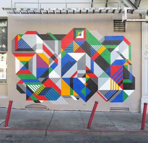 Murals by MATT W. MOORE seen at Chinatown, San Francisco - MWM Isometric.