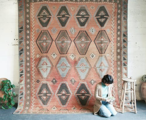 Rugs by Wild Shaman Kilims + Rugs seen at 931 SE 6th Ave, Portland - Vintage Sivas Sarkisla Kilim Rug