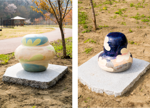 Public Sculptures by SHIOYA Ryota seen at Hitachiomiya, Hitachiomiya - depth / the appearance of memory