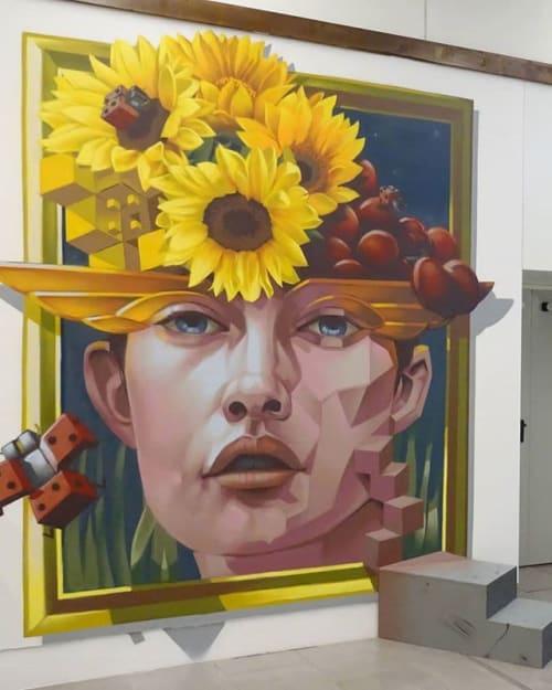 Street Murals by Third Rua seen at Alameda Shop & Spot, Porto - Litmus Mood