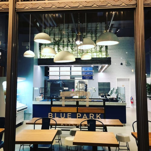 Pendants by Danielle Trofe Design seen at Blue Park Kitchen, New York - MushLume Hemi Pendant