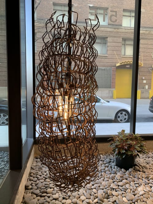 Lighting Design by Slivinski Light seen at Coeval Apartments, Chicago - Coeval Apartment Complex Lobby