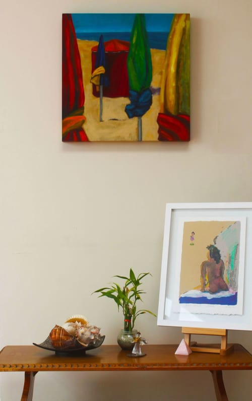 Paintings by Cecilia Arrospide seen at Private Residence - Lima, Peru, Lima - Studio wall