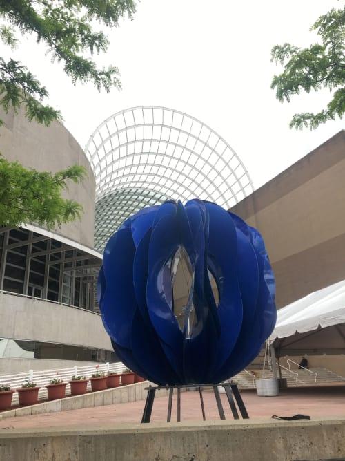 Public Sculptures by Yvonne Domenge seen at Denver Performing Arts Complex, Denver - Coral Sphere