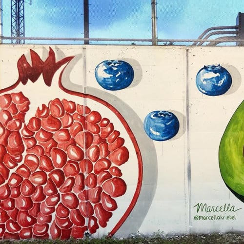 Street Murals by Marcella Kriebel seen at Metropolitan Branch Trail, Washington - Eat Your Veggies Mural