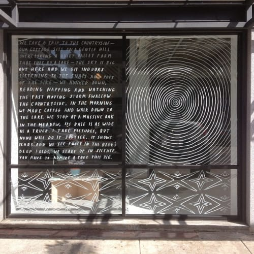 Murals by Brian Rea at Austere Consulting, Long Beach - Window Installation