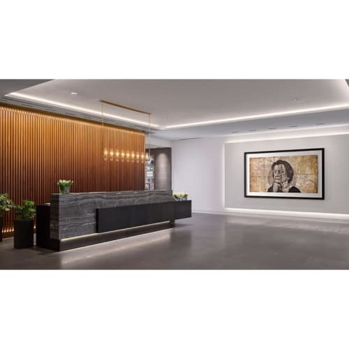 Art & Wall Decor by Mark Powell seen at C. Baldwin, Curio Collection by Hilton, Houston - Drawing on map