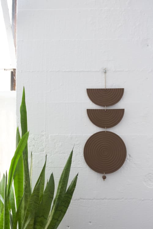 Wall Hangings by Kristina Kotlier seen at Private Residence, Austin - Sacred Eye Wall Piece