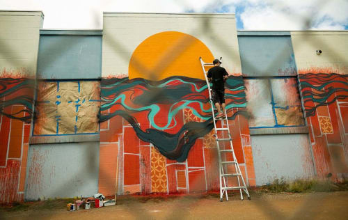 Murals by Erik Otto seen at O'ahu - Chasing the Sun Mural