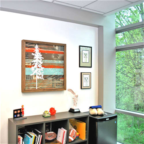 Paintings by Christopher Original at Nike World Headquarters, Beaverton - Lone Fir Painting