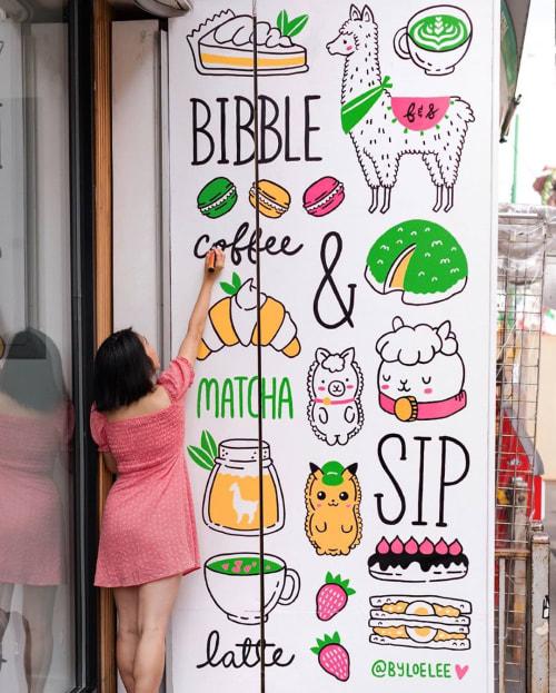 Murals by Loe Lee seen at Bibble and Sip, New York - Bibble Mural