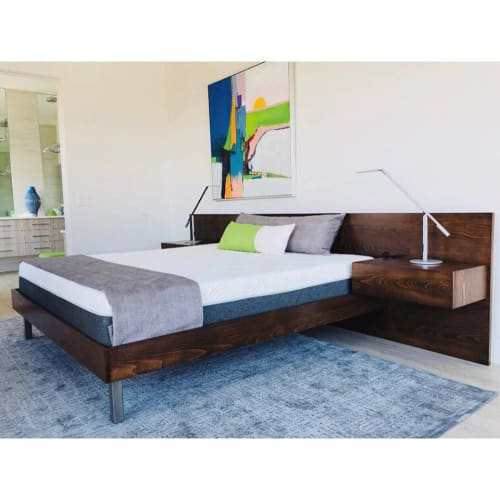 Beds & Accessories by AW Woodworks seen at Private Residence, Ivins - Minimalist Platform Bed