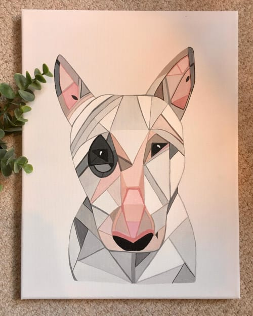 Paintings by Geo-Wild Designs (Mahayla Clayton) seen at Private Residence, Melbourne - Commission - Bull terrier