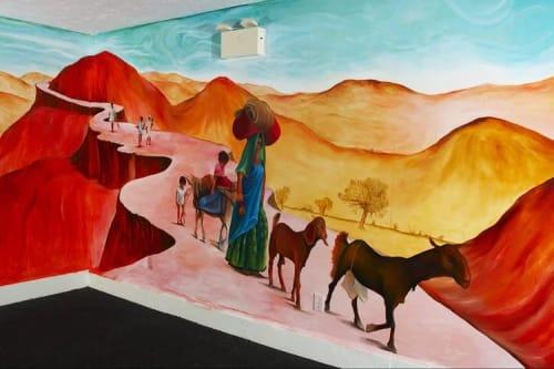 Murals by Jeramy Turner Murals seen at Tandoor Palace Restaurant & Bar, Tannersville - Interior Mural